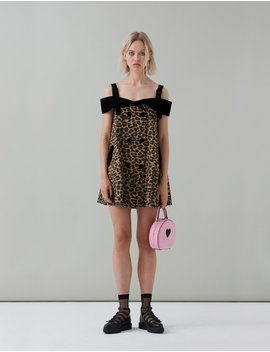 G.E.M Tuxedo Leopard Dress by Lazy Oaf