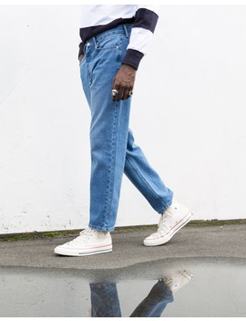 The Idle Man Straight Leg Dad Fit Stonewash Jeans by T.I.M.