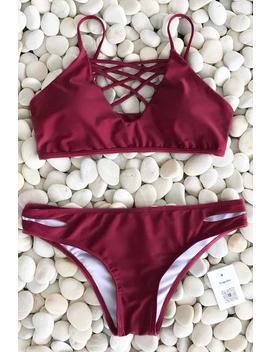 Just Wanna Swim Bikini Set by Cupshe