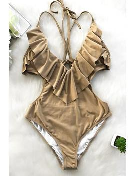 Love The Moment Falbala One Piece Swimsuit by Cupshe