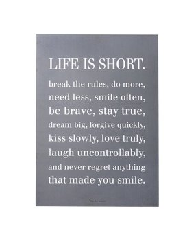 'life Is Short…' Textual Art On Plaque by Allmodern