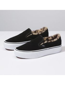 Suede Slip On Platform by Vans