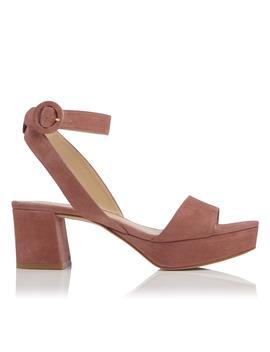 Alie Pink Suede Sandal by L.K.Bennett