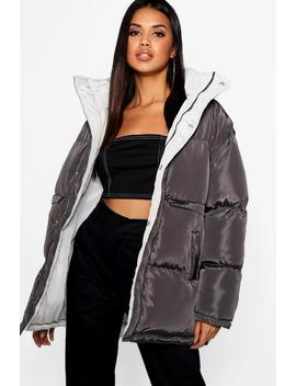 Funnel Neck Multiway Reversible Jacket Funnel Neck Multiway Reversible Jacket by Boohoo