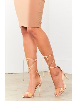 Nude All Tied Up Sandal by Sorella