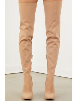 Celise Over The Knee Boot   Nude by Sorella