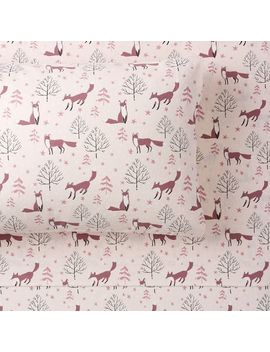 Winter Foxes Organic Flannel Sheet Set by P Bteen