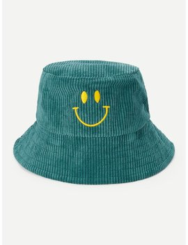 Kids Smile Embroidery Bucket Hat by Romwe