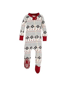 Burt's Bees Baby® Snowflake Holiday Footed Pajama In Grey by Buybuy Baby