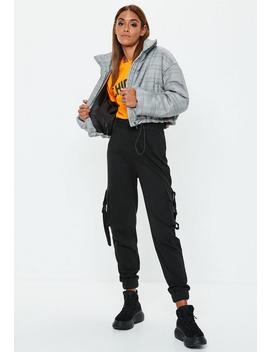 Grey Check Bomber Jacket by Missguided