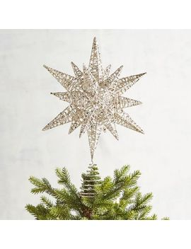Champagne Multipoint Star Christmas Tree Topper by Pier1 Imports