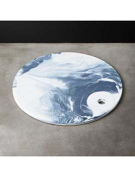 Swirl Marbleized Ceramic Serving Platter by Crate&Barrel
