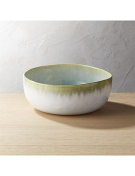 Melt Large Reactive Green Bowl by Crate&Barrel