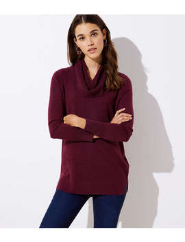 Petite Cowl Neck Tunic Sweater by Loft