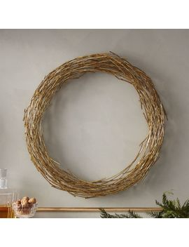 Samara Brass Twig Wreath by Crate&Barrel
