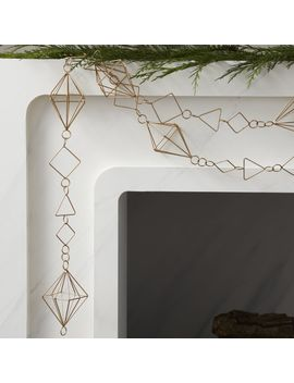 Tops Gold Geometric Garland by Crate&Barrel
