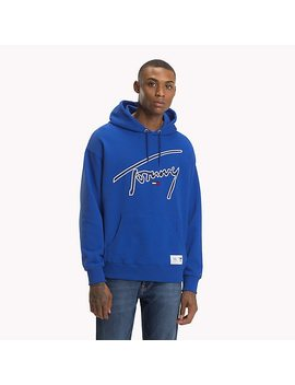Signature Cotton Hoodie by Tommy Hilfiger