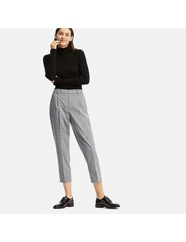 Women Ezy Pleated Ankle Length Trousers by Uniqlo