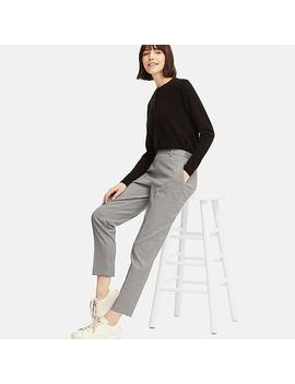 Women Ezy Houndstooth Ankle Length Trousers by Uniqlo
