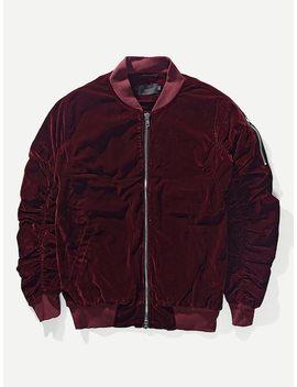 Männer Samt Jacket Mit Falten by Sheinside