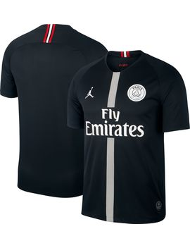 Jordan Men's Paris Saint Germain 18/19 Breathe Stadium Black Third Replica Jeresy by Jordan