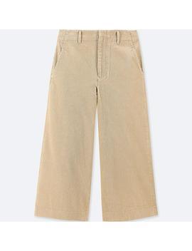 Pantalon Cropped Large En Velours CÔtelÉ Femme by Uniqlo