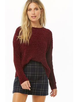 Drop Shoulder Chenille Sweater by Forever 21