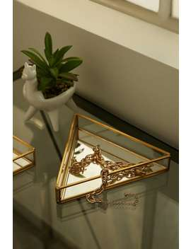 Small Triangle Mirror Jewelry Dish by Forever 21