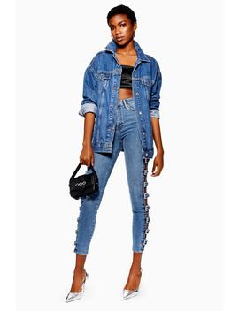 Mid Blue Buckle Jamie Jeans by Topshop
