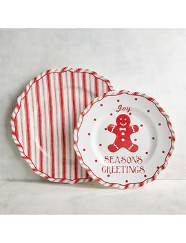 Humbolt Gingerbread Man &Amp; Striped Dinnerware by Pier1 Imports