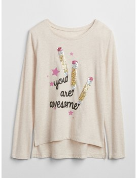 Flippy Sequin Graphic T Shirt by Gap