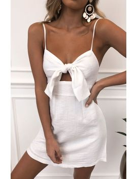 New Wave Mini Dress White by White Fox