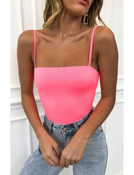 Stand Out Bodysuit Neon Pink by White Fox