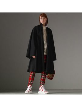 Tailored Doeskin Wool Cape by Burberry