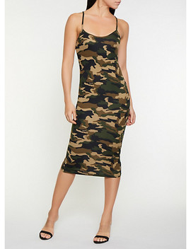 Soft Knit Camo Tank Dress by Rainbow