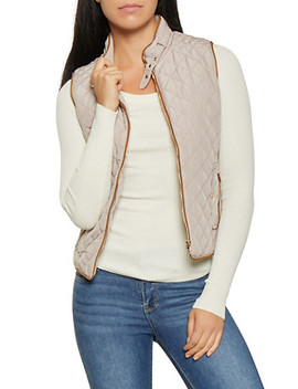 Zip Up Quilted Vest by Rainbow