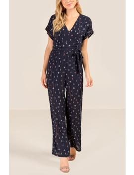 Trinity Floral Shine Jumpsuit by Francesca's