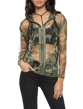 Camo Mesh Windbreaker by Rainbow