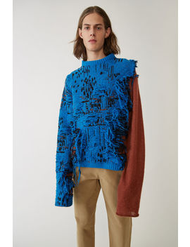 Tri Coloured Sweater Blue Melange by Acne Studios
