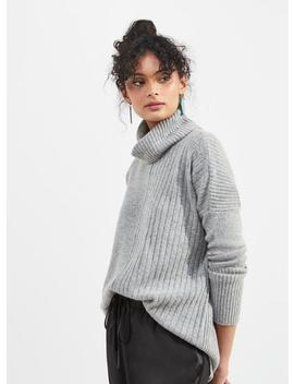 Grey Cosy Roll Neck Knitted Jumper by Miss Selfridge