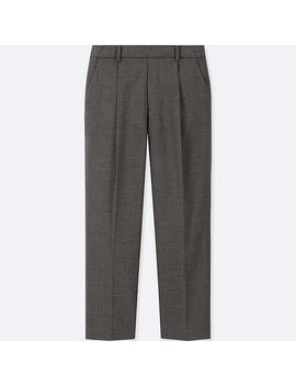 Pantalon Longueur 7/8Ème À Pinces Femme by Uniqlo