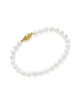 14 K 7 7.5mm Akoya Pearl Bracelet by Tara Pearls