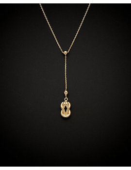 14 K Italian Gold Love Knot Necklace by Italian Gold