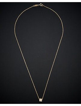 14 K Italian Gold Cube Necklace by Italian Gold