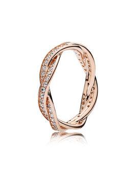 Twist Of Fate Ring, Pandora Rose™ & Clear Cz Pandora Rose, Cubic Zirconia by Pandora