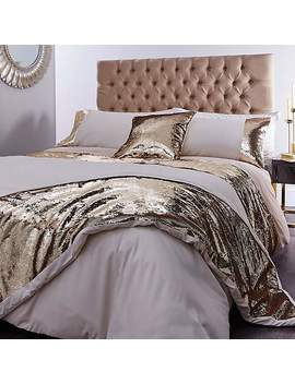 Ariana Gold Sequined Bed Linen Collection by Dunelm