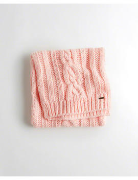 Cable Knit Scarf by Hollister