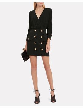 Button Embellished Mini Dress by Balmain