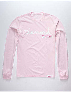 Diamond Supply Co. Og Script Pink Mens T Shirt by Diamond Supply Co.