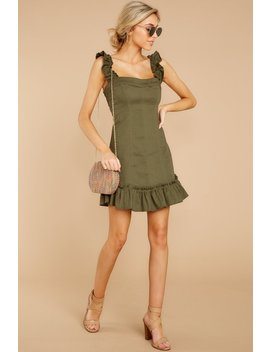 Break It Down Olive Dress by One And Only Collective